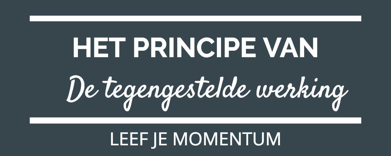 Het Principe Van De Tegengestelde Werking
